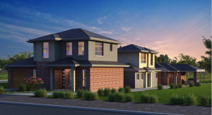 australia home design with twiligh rendering