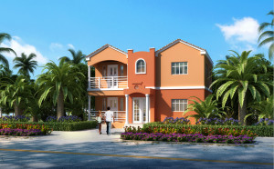 coral single home design 3d