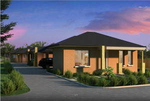 simple home design 3d with twilight rendering