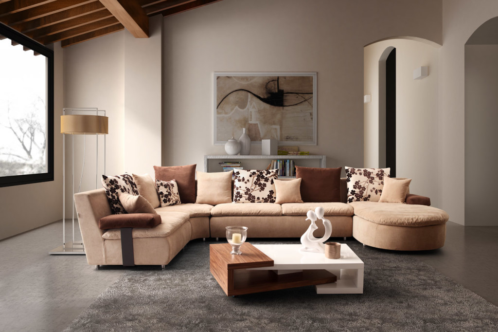 3d interior design for sofa presentation