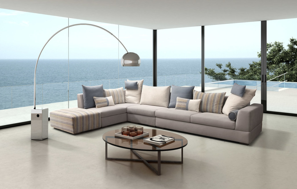 3d interior design merge with real sofa photo
