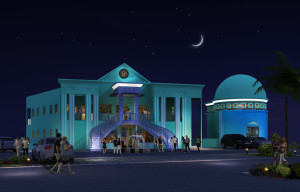 architecture rendering for caribbean seaside project