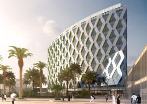 architecture rendering for dubai project