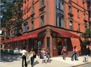 architectural rendering for french bar renovation