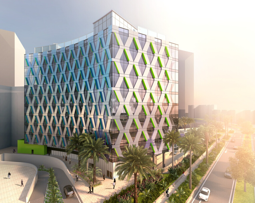 Architecture Rendering With Day View Result In Dubai