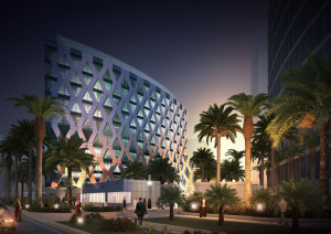 architectural rendering with night view result