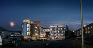 architecture rendering with night view result for sweeden